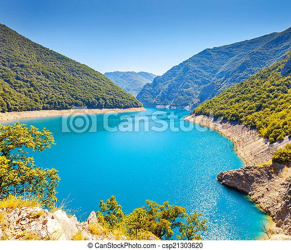 The Piva river in Montenegro - csp21303620