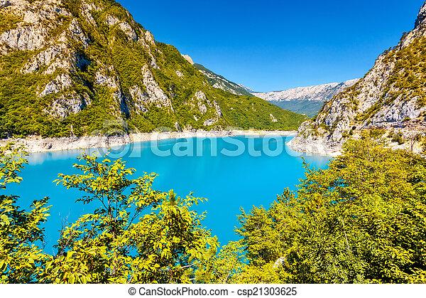 The Piva river in Montenegro - csp21303625