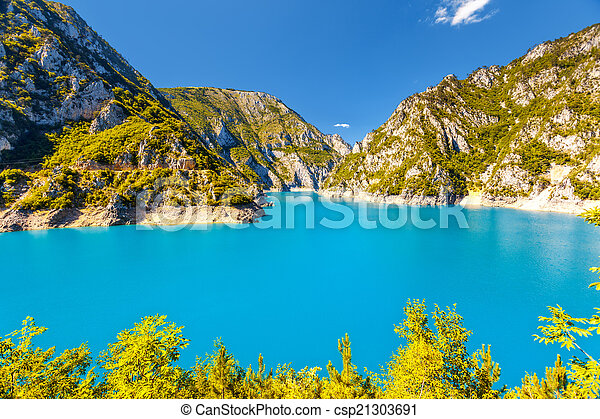 The Piva river in Montenegro - csp21303691