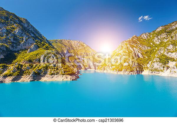 The Piva river in Montenegro - csp21303696
