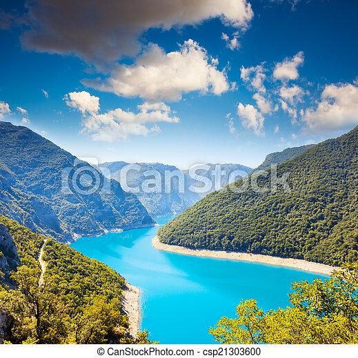 The Piva river in Montenegro - csp21303600