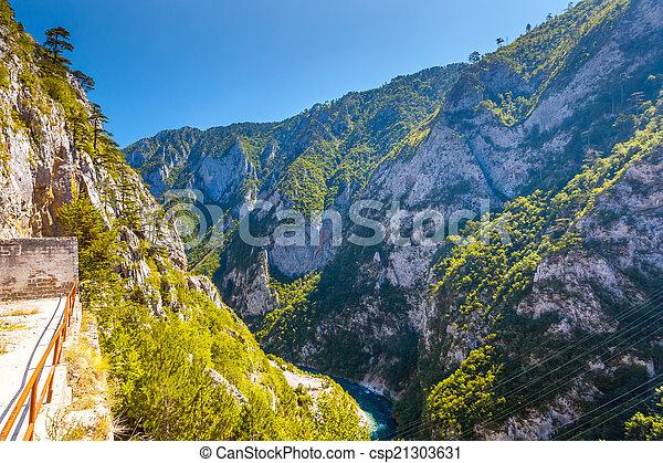 The Piva river in Montenegro - csp21303631