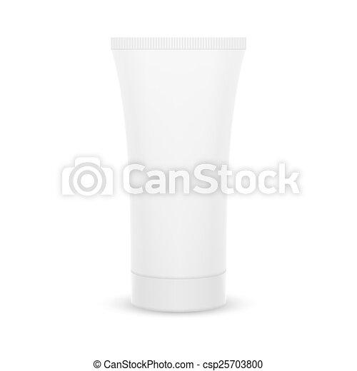 The plastic tube. - csp25703800
