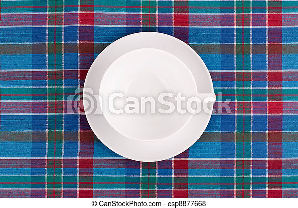 the plate on checkered table cloth pictures - search photographs and