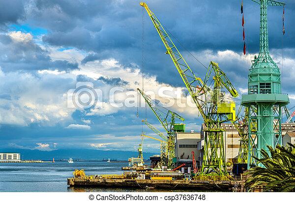 The Port of Kobe - Japan - csp37636748