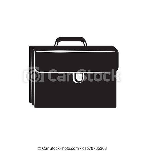 the portfolio icon is black on an isolated white layer. Vector image - csp78785363