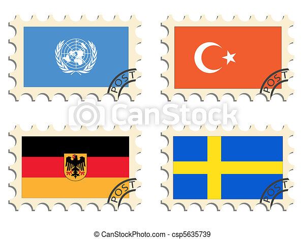 The post stamps of the countries - csp5635739
