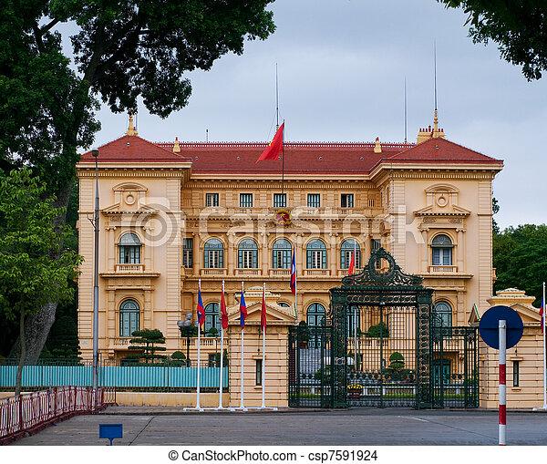 The presidential palace in Hanoi, Vietnam - csp7591924