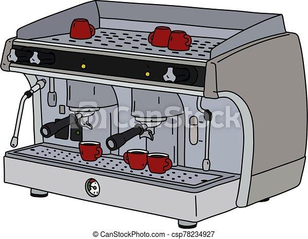 The professional espresso maker - csp78234927