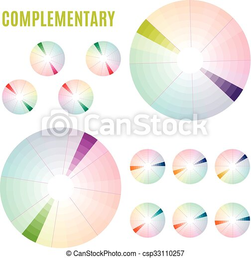 The psychology of colors diagram wheel basic colors clipart the psychology of colors diagram wheel basic colors meaning complementary set vector ccuart Images