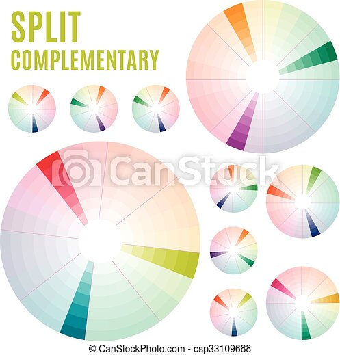 The psychology of colors diagram wheel basic colors vector the psychology of colors diagram wheel basic colors meaning split complementary set part 3 vector ccuart Images