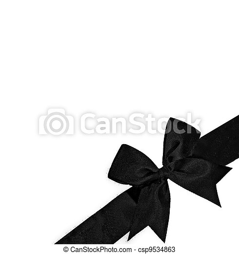The Purple ribbon isolated on white background - csp9534863