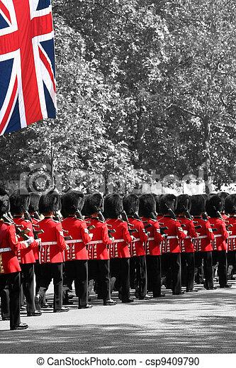 The Queen's Birthday Parade - csp9409790