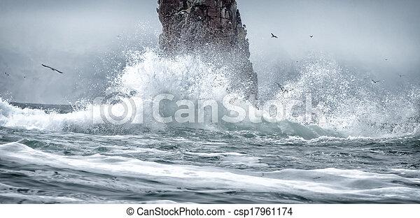 the raging sea - csp17961174