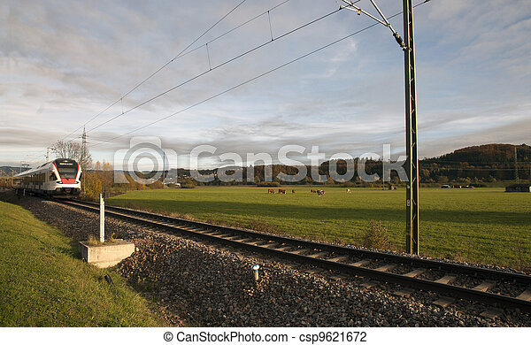 The railway in the grass - csp9621672