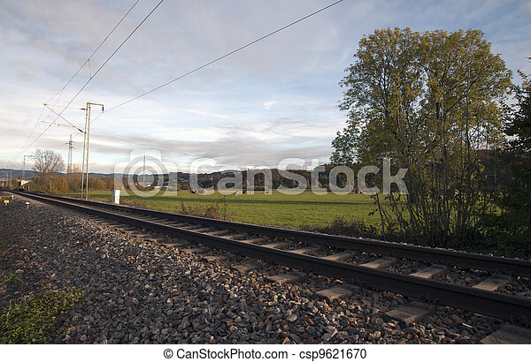 The railway in the grass - csp9621670