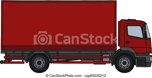 The red cargo truck - csp65030212