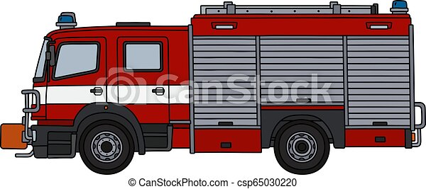The red fire truck - csp65030220
