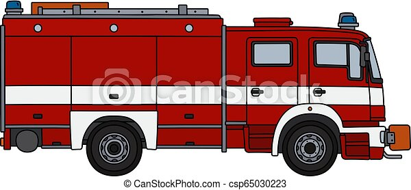 The red fire truck - csp65030223