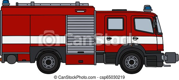 The red fire truck - csp65030219