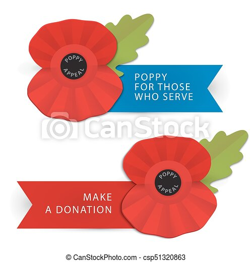 The Remembrance Poppy Poppy Appeal Modern Paper Sticker Design