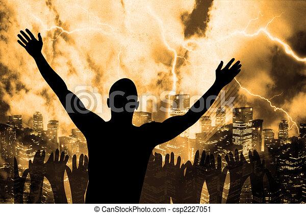 Man Glorying God | Praise Clipart