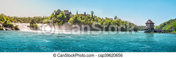 The Rhine Fall on a sunny day - csp39620656