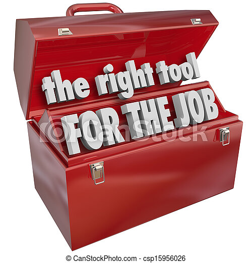 The Right Tool For The Job Toolbox Experience Skills The