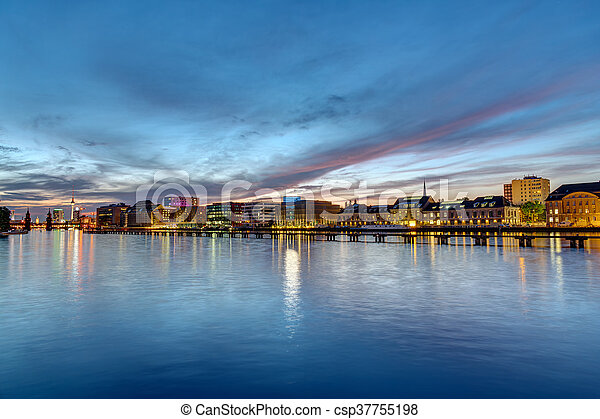 The river Spree in Berlin at dawn - csp37755198