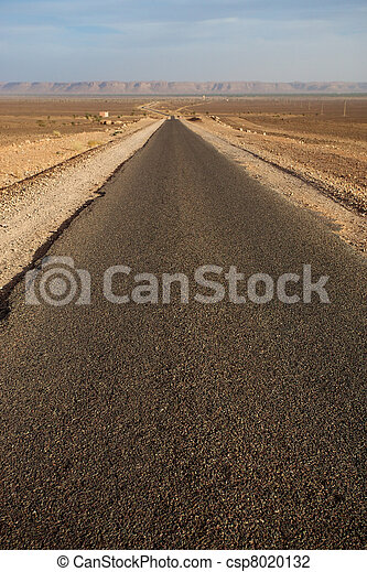 The road less traveled in Morocco - csp8020132