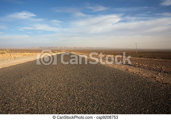 The road less traveled in Morocco - csp9208753