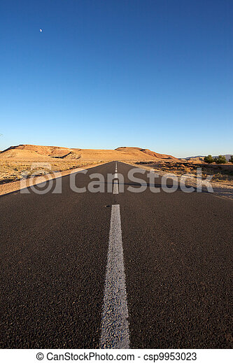 The road less traveled in Morocco - csp9953023