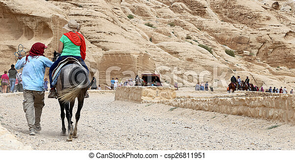 The road to Petra, Jordan, Middle East    - csp26811951