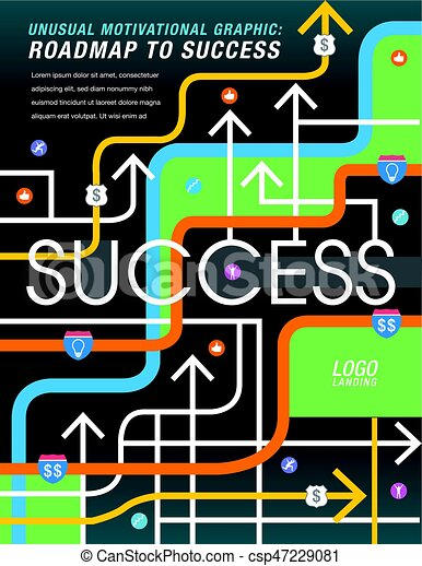 The road to success is mapped out - csp47229081