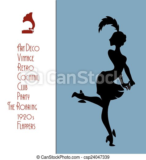 The roaring flappers girl design - csp24047339