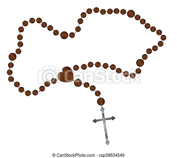 the rosary beads catholic rosary beads with a silver cross eps rh canstockphoto com rosary clipart images rosary clipart black and white