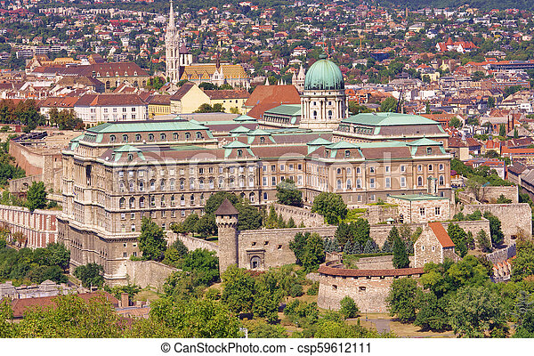The Royal Castle or palace in Budapest city, Hungary. - csp59612111