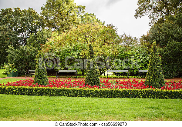 The Royal Palace park in Oslo - csp56639270