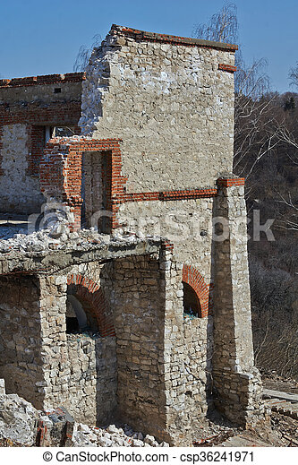 The ruins of an old building . - csp36241971