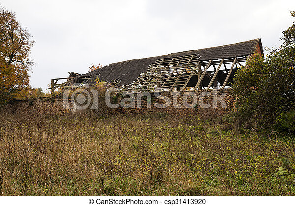 the ruins of an old building - csp31413920