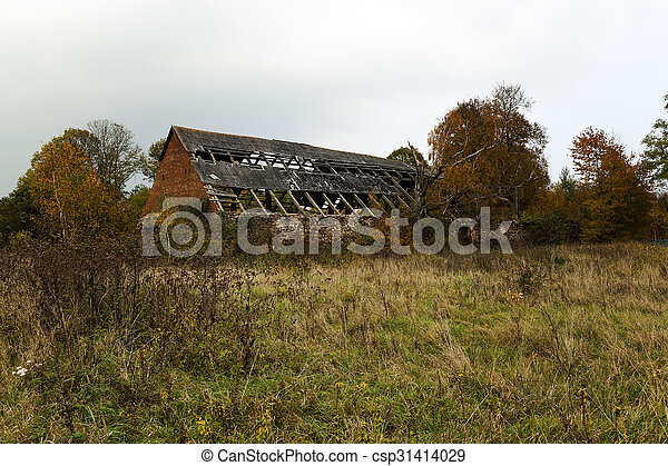 the ruins of an old building - csp31414029