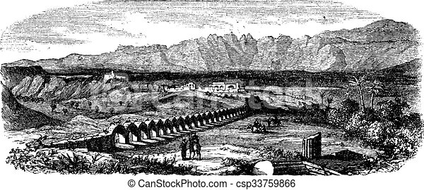 The Ruins of Laodicea, Turkey vintage engraving - csp33759866