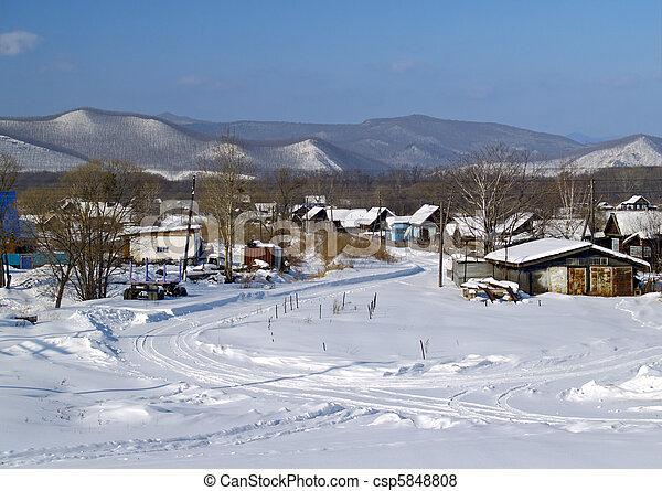 The Rural landscape in winter - csp5848808