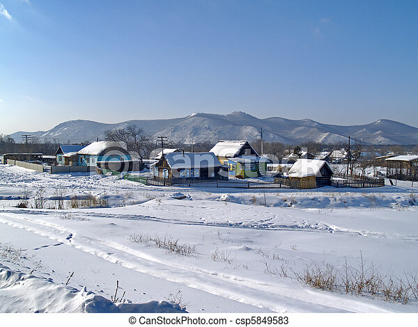 The Rural landscape in winter - csp5849583