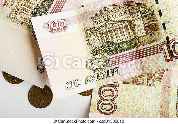 the Russian ruble - csp31505812