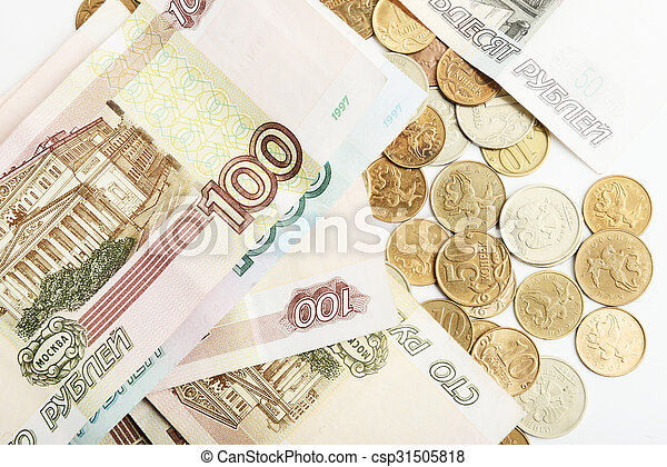 the Russian ruble - csp31505818