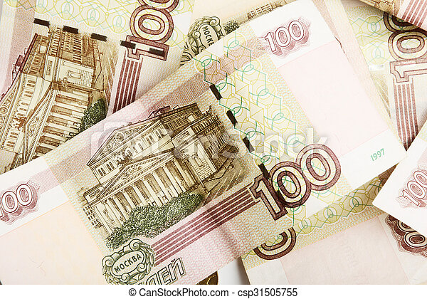 the Russian ruble - csp31505755
