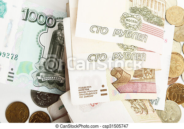 the Russian ruble - csp31505747