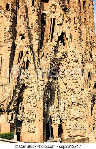 The Sagrada Familia Church in Barcelona - csp2613217