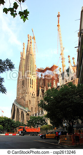 The Sagrada Familia Church in Barcelona - csp2613246